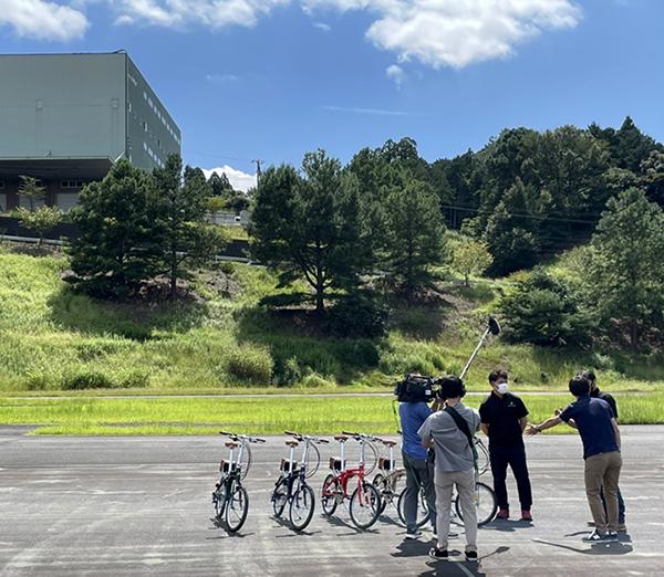 作者:電動アシスト自転車のテレビ取材